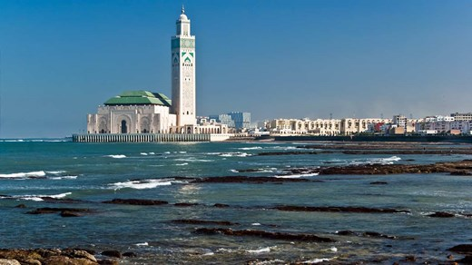 The King Hassan II Mosque in Casablanca is an amazing sight both from the inside and the outside