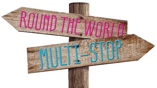 Round the world with multi-stops - make your dream about backpacking the world come true