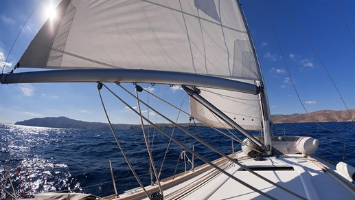 Sailing in the Mediterranean