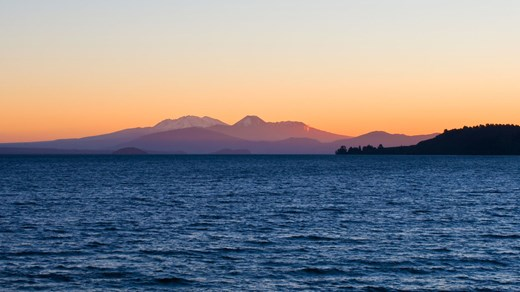Lake Taupo and the volcanoes to the south