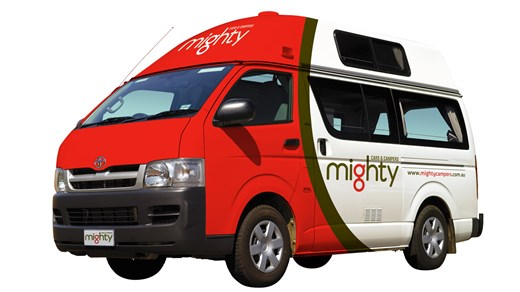 Rent a Mighty Jackpot campervan in Australia