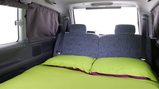 Cabana campervan - the living area turns into a double bed