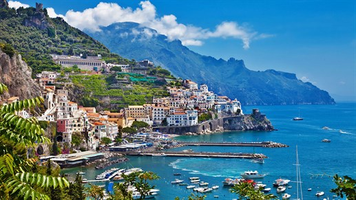 The beautiful Amalfi Coast of Italy