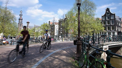 Netherlands Amsterdam Bikes Canal