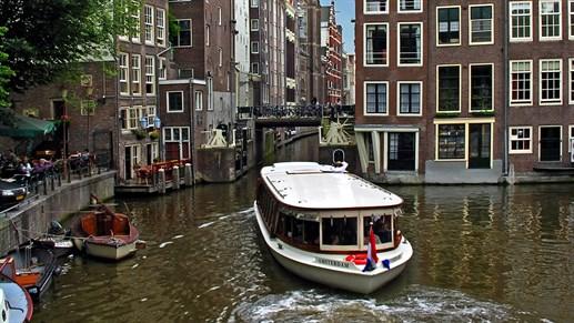Netherlands Amsterdam Canal Boat
