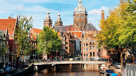 Amsterdam Netherlands Canal Church