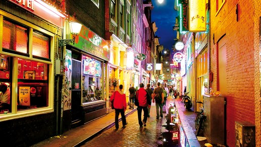 Amsterdam Netherlands Street Bars Night