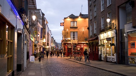 There are lots of cute streets in Dublin and Ireland