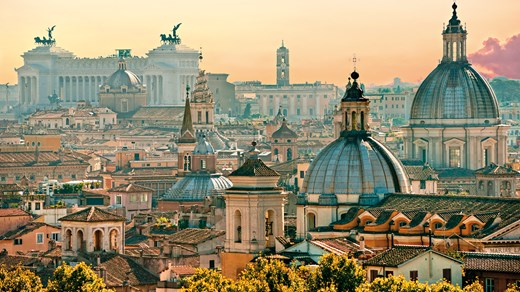 The beautiful city of Rome in Italy