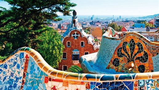 Barcelona Spain Parc Guell