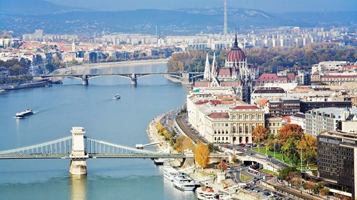 The capital of Hungary is split in two - Buda and Pest