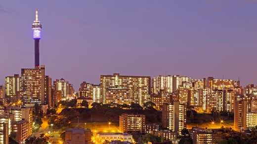Johannesburg skyline by night