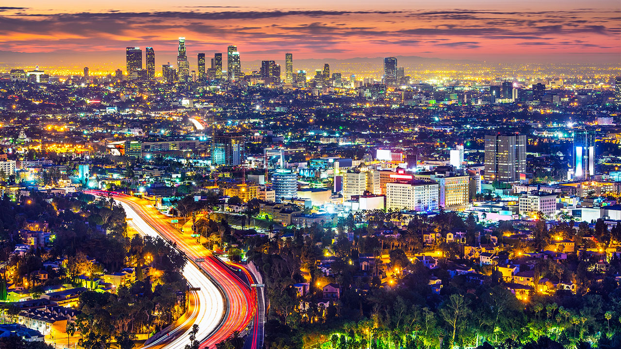 Los Angeles by night - travel to California
