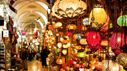 Fly to Istanbul and go shopping in the beautiful Grand Bazaar