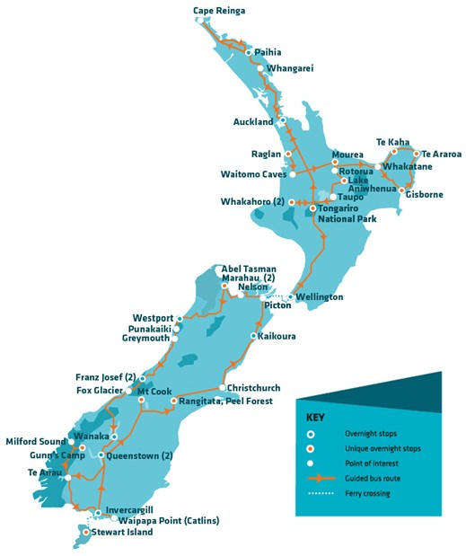 Stray bus passes for backpackers in New Zealand KILROY