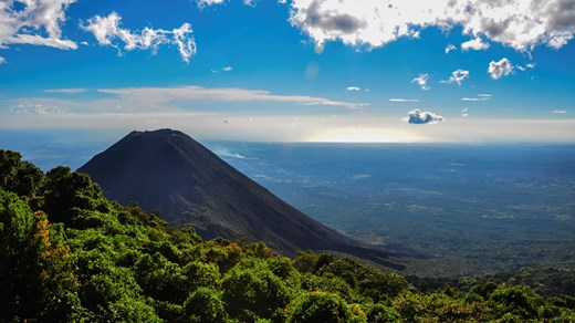 The Izalco Volcano in Cerro Verde National Park in El Salvador