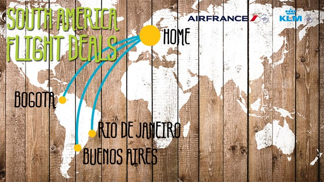 South America deals from EUR 870,-