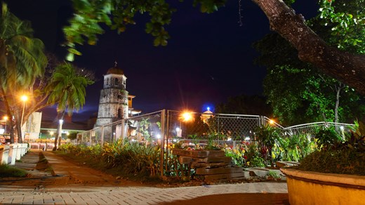 Church by night in Dumaguete